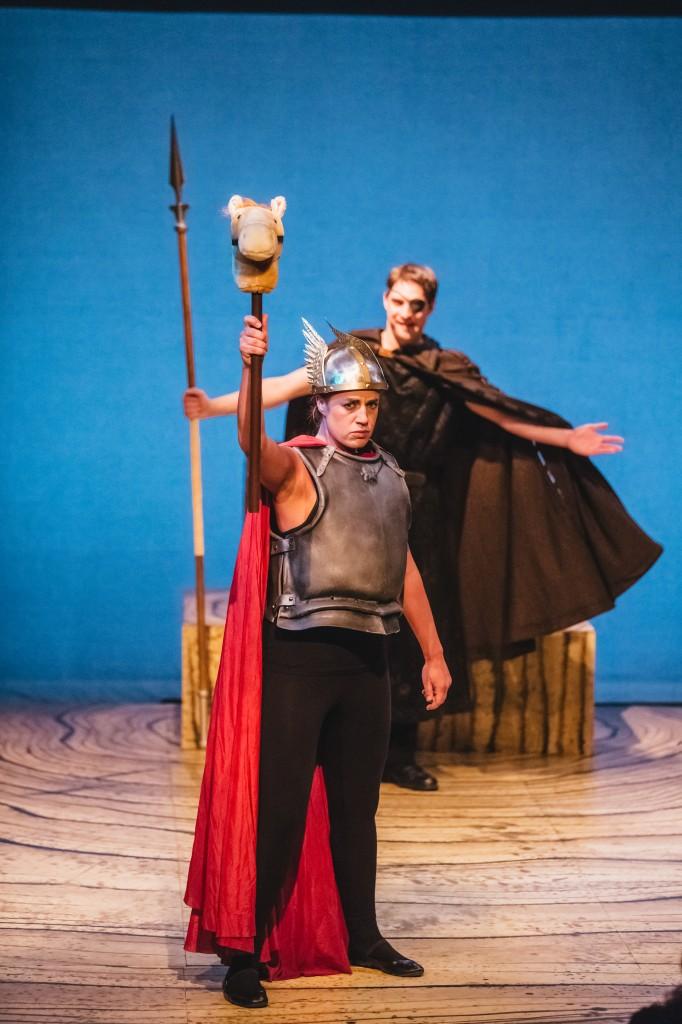 The Skylight Ring -  Skylight Music Theatre, 2015 Pictured: Erin Sura (Brünnhilde), Tim Rebers (Wotan) Photo: Sara Bill