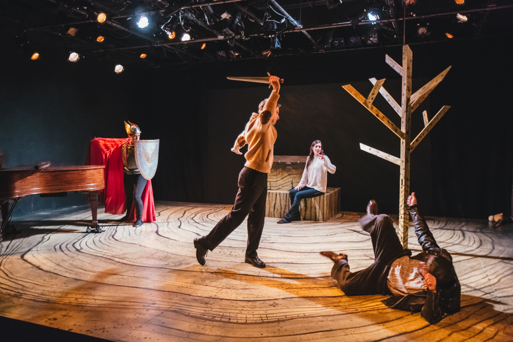The Skylight Ring - Skylight Music Theatre, 2015 Pictured: Erin Sura (Brünnhilde), Tim Rebers (Siegmund), Colleen Brooks (Sieglinde), Robert Frankenberry (Hunding) Photo: Sara Bill