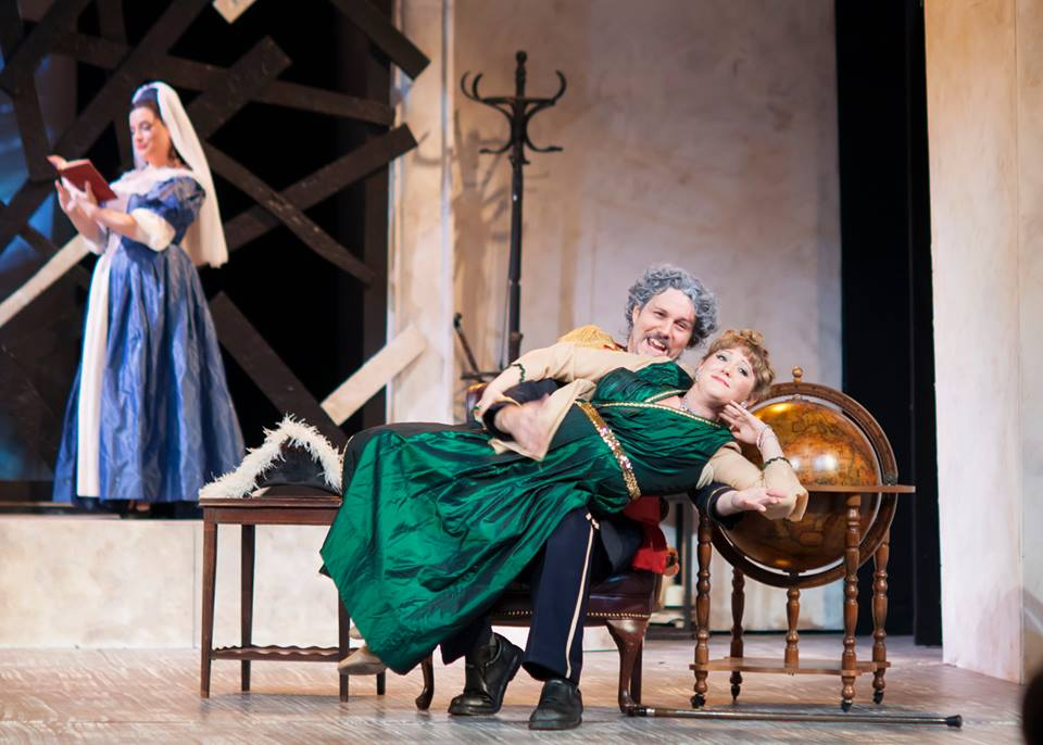 Die schweigsame Frau  (Assistant Director) -Opera Theater of Pittsburgh, 2016 Pictured: Julia Fox (Aminta),Jeremy Galyon (Morosus),Laura DellaFera (Isotta) Photo: Patti Brahim