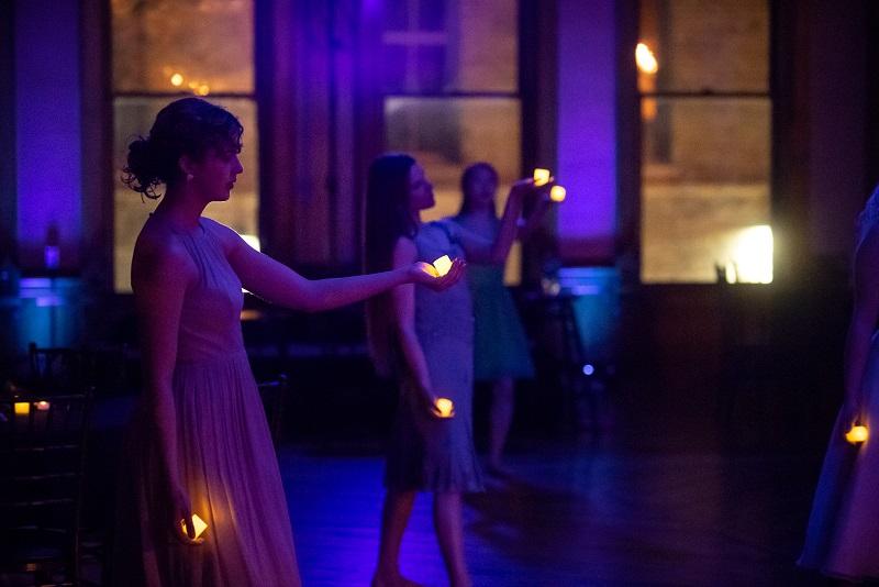 Svadba-Wedding  (Assistant Director)   - Milwaukee Opera Theatre, 2018 Pictured: Maggie Seer, Danielle Lohuis, Elisabeth Roskopf (Dancers) Photo: Mark Frohna