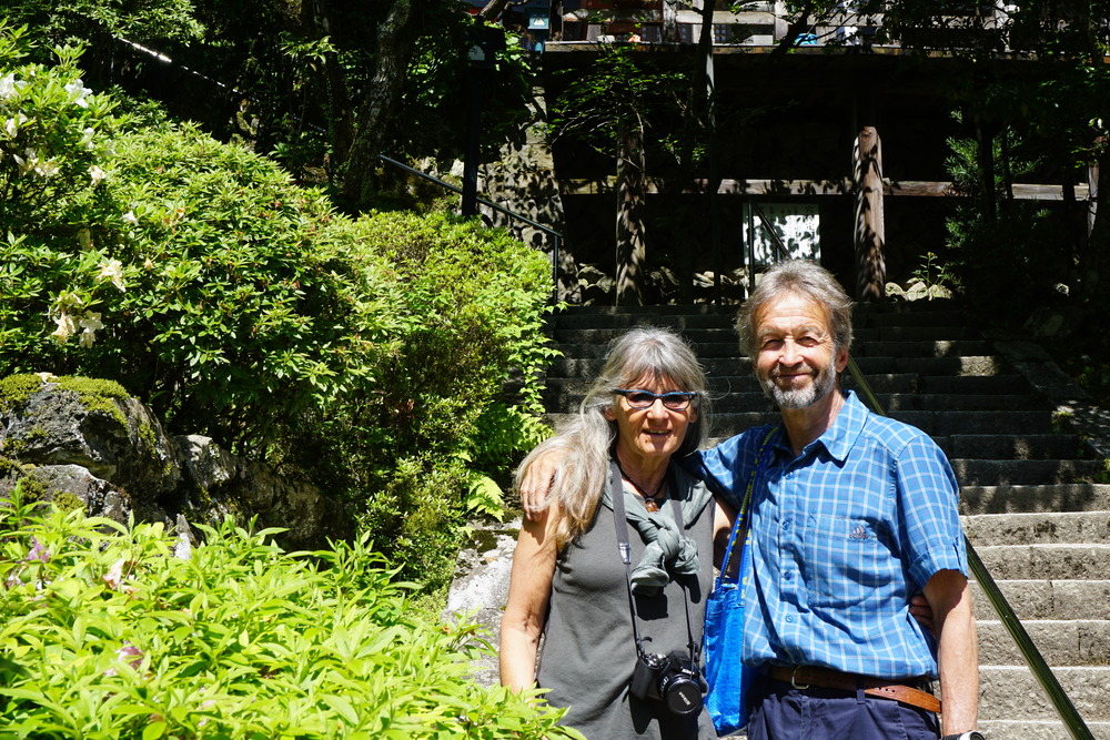 Swiss couple at temple 45.