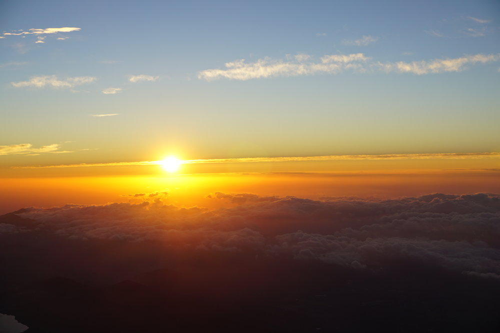 3776m above sea level. 5:20am. Sunrise over Yamanashi Prefecture. Perfection.