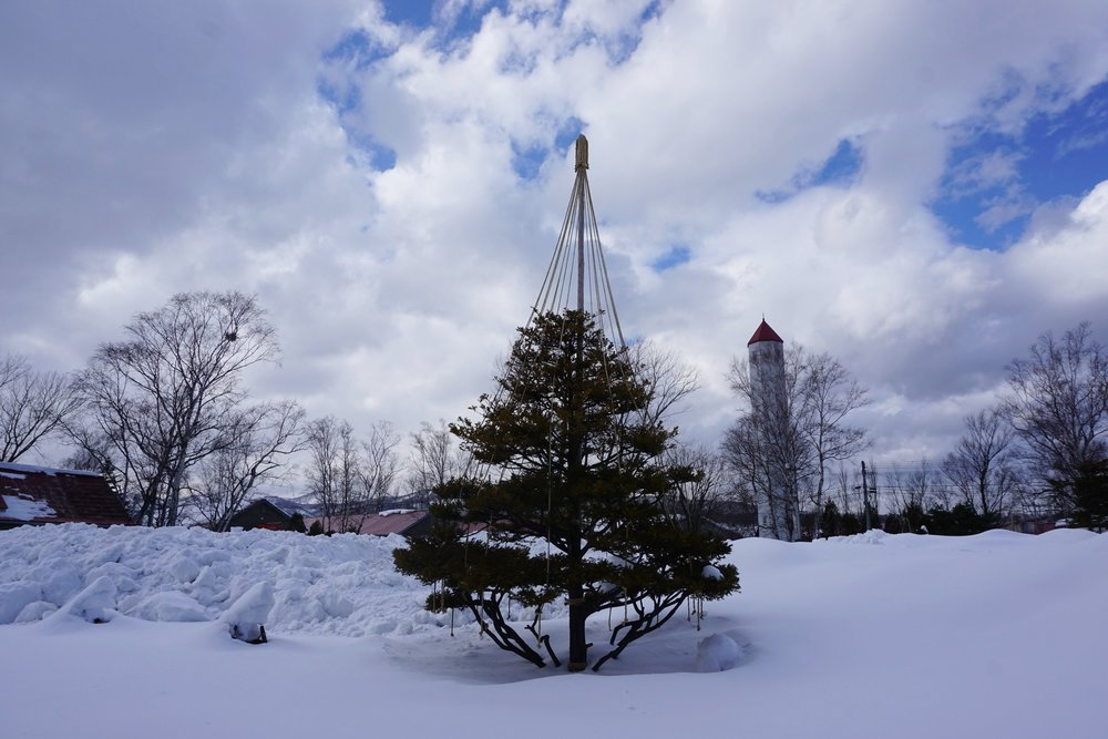 snow in yoichi distillery