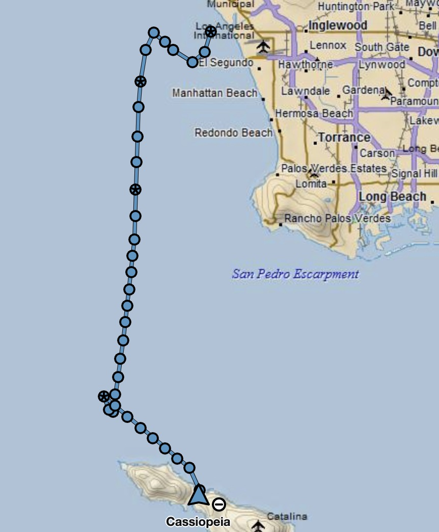 my track….note the gaggle of dots as I tried to fix that pesky furler!  The trip was 9 hours and 18 minutes, traveling 50.2 miles. Still a solid trip!