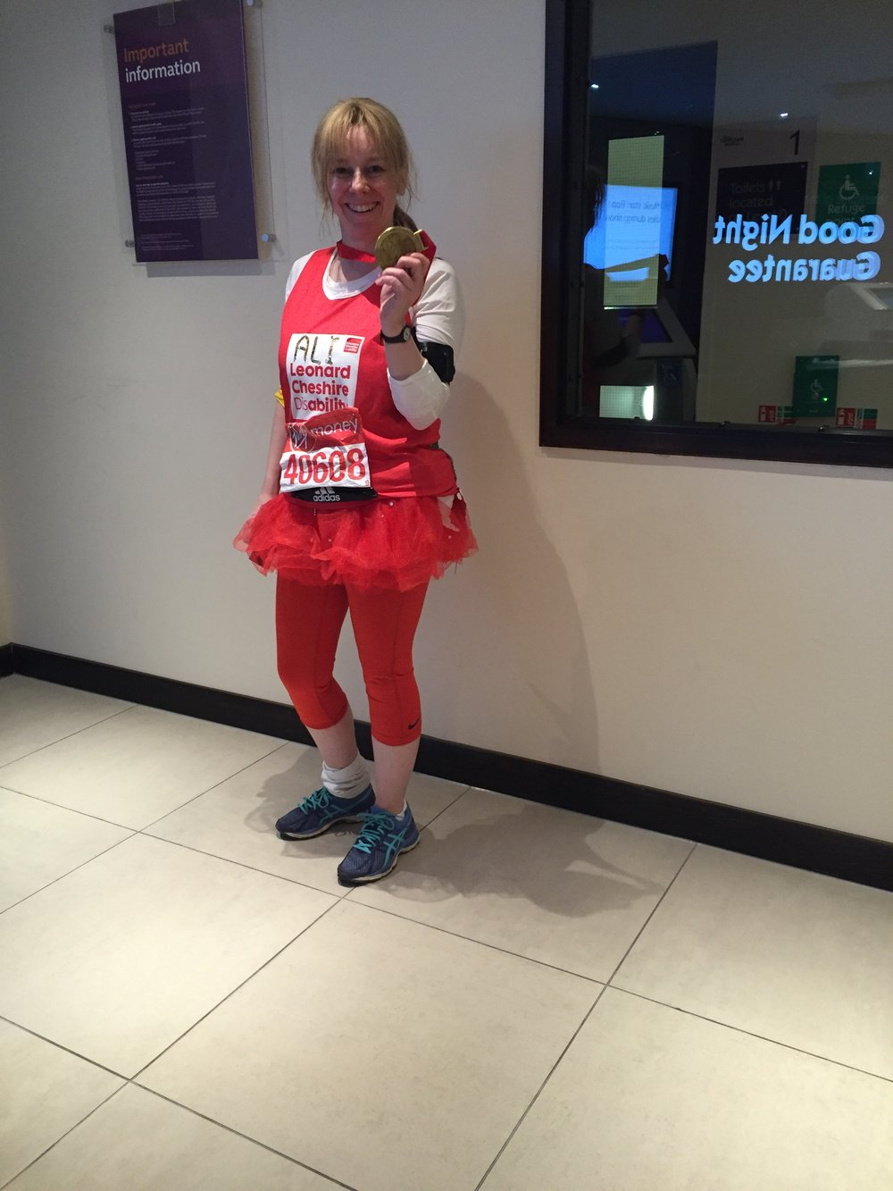 Super Ali having completed her London Marathon!!
