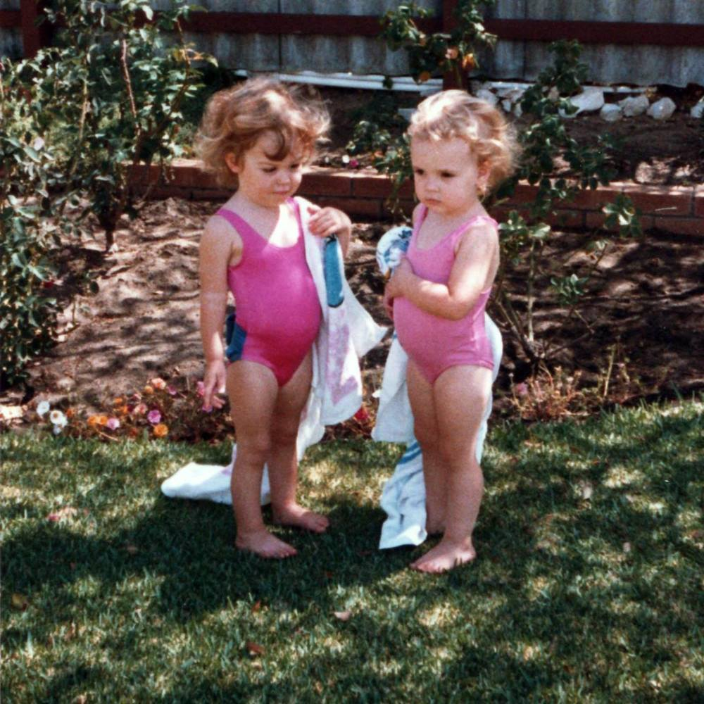 Me and my cousin ready for a swim