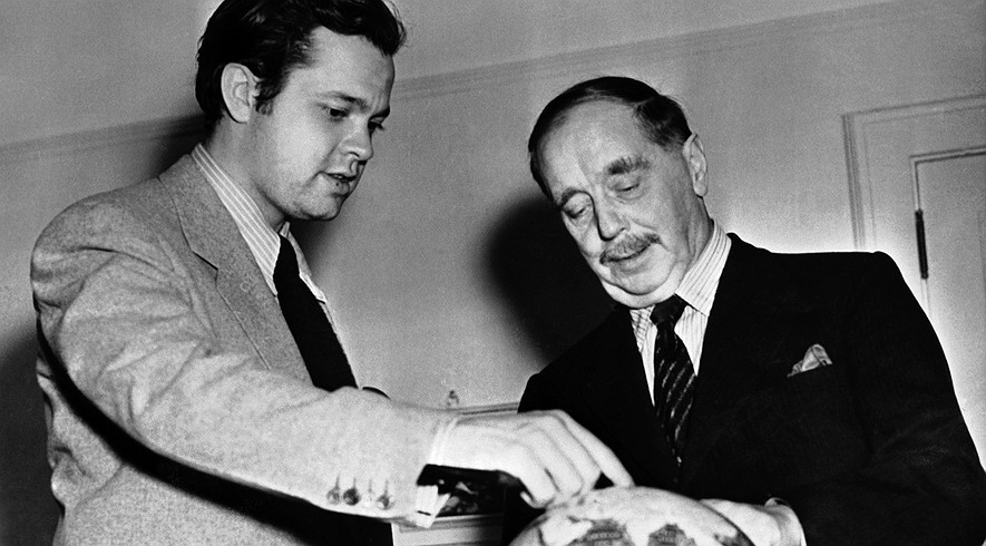 H.G. Wells with Orson Welles, 1940