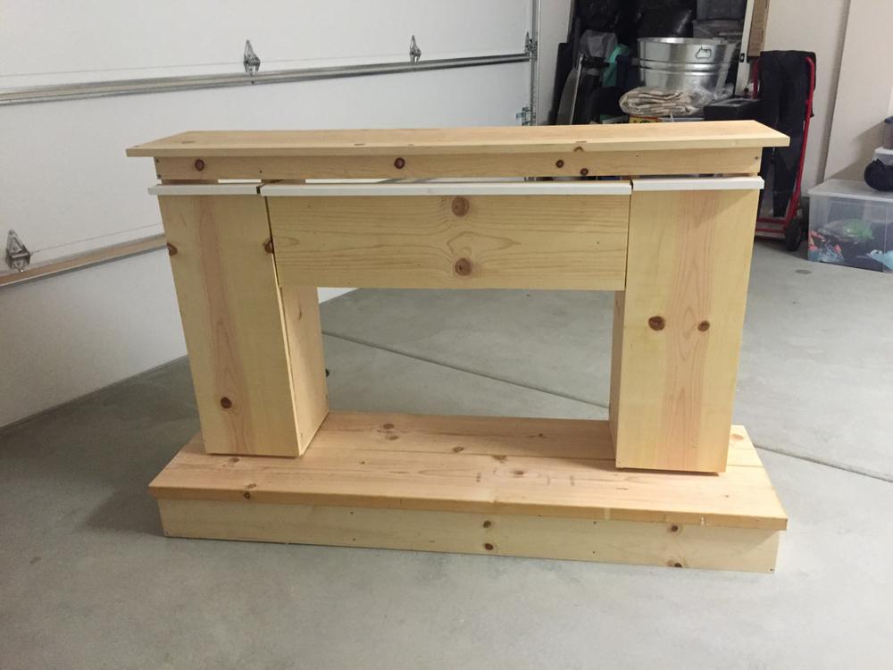 Frame complete, doors on. Needs paint/ trim.