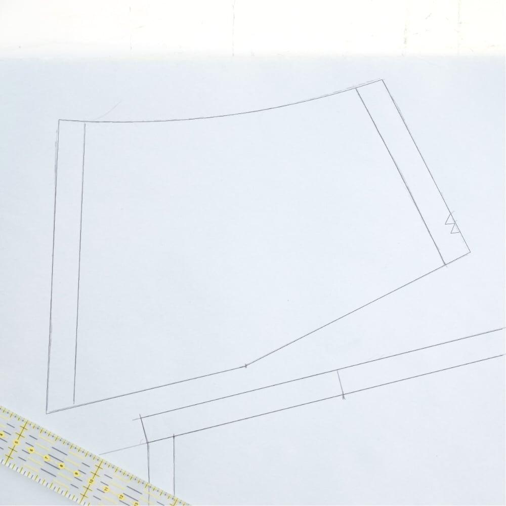 ::::4. trace cutting and stitching lines ::4. traccia le linee di taglio e di cucitura::::