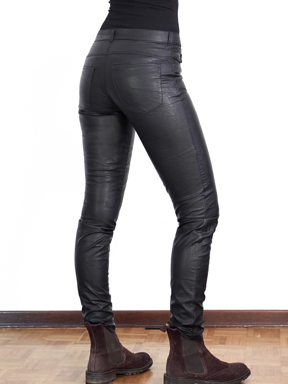 Leatherette Ginger Jeans