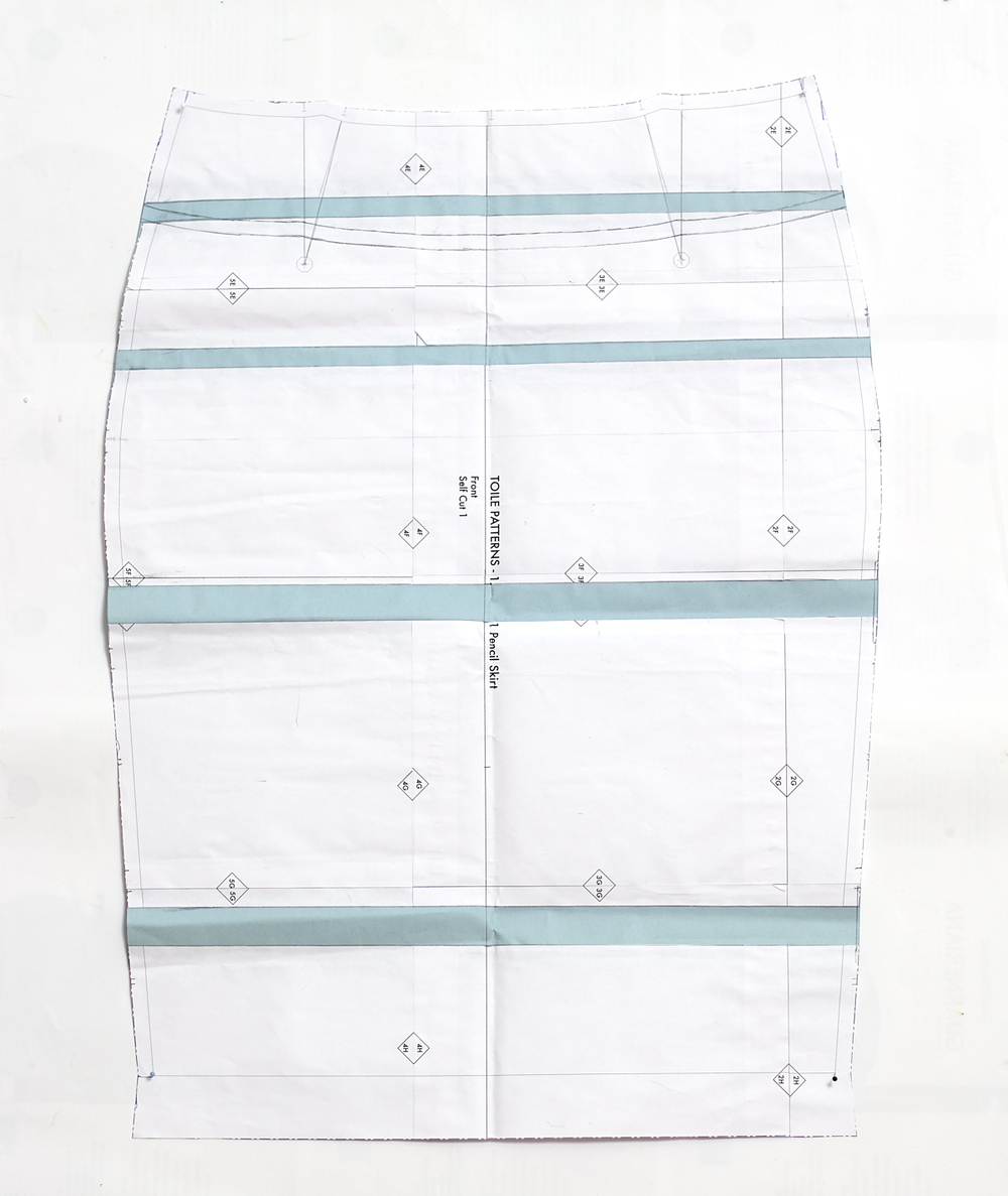 Toile Patterns Pencil Skirt