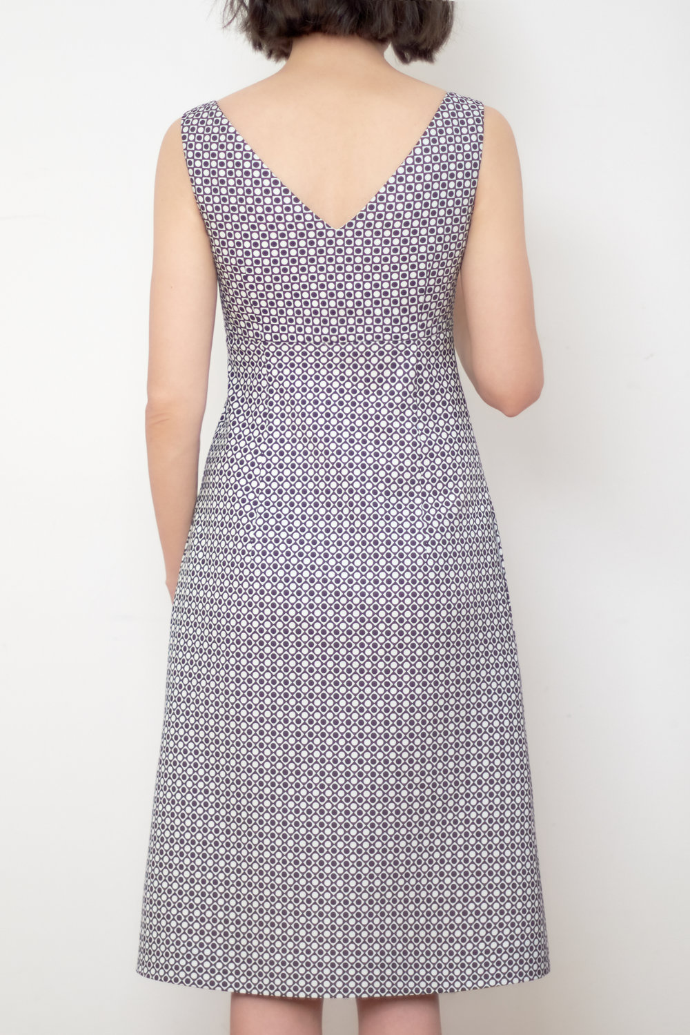 Burda v-neck dress 109A 06/2014