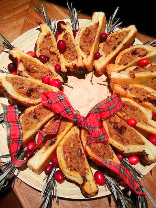 sausage roll Christmas wreath