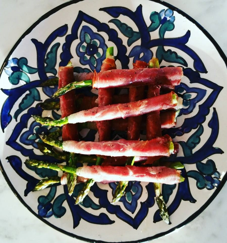 asparagus and proscuitto cigars