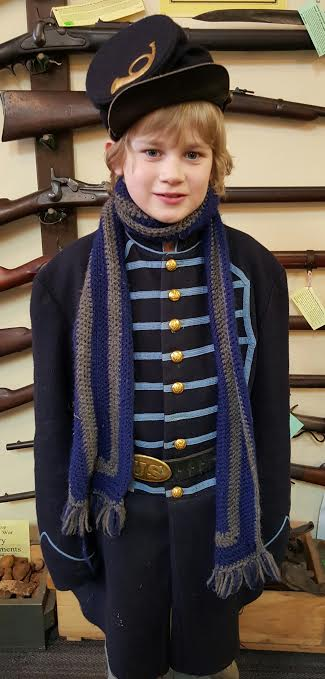 10 year-old Sean Brightbill Jr. from Lebanon, PA.  Sean has been Reenacting for 3 years.