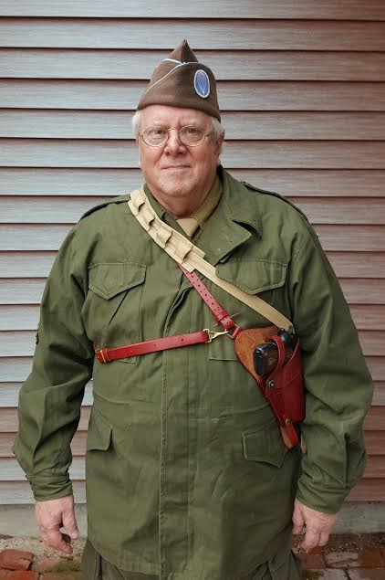 WWII Reenactor David Dilks from Hanover, PA.
