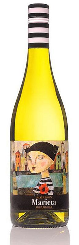 Marieta es un vino blanco semiseco monovarietal elaborado con la uva Albariño, por la bodega Martín Códax perteneciente a la Denominación de Origen – D.O. Rías Baixas. Se trata de un vino joven del año 2014.
