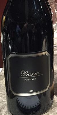 Vino Bassus Pinot Noir 2007 Denominación de Origen Utiel - Requ