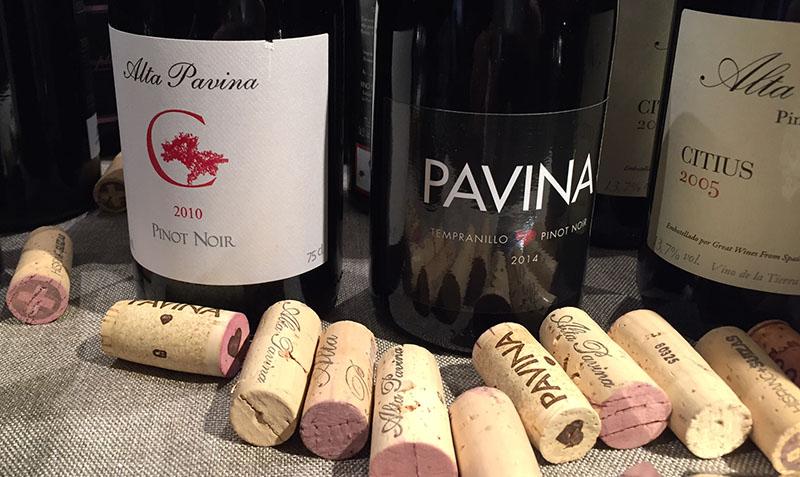 Vinos de Alta Pavina: Pinot Noir 2010, Tempranillo y Pinot Noir 2014 y Cititius 2005