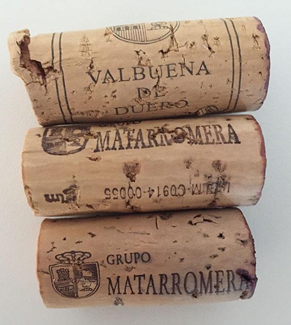 Corchos de Vinos del Grupo Matarromera