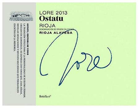 Etiqueta del Vino Blanco Ostatu Lore 2013 - Denominación de Ori