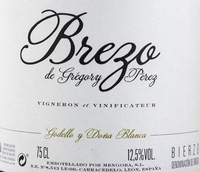 Etiqueta de Brezo Vino Blanco elaborado por Mengoba Bodegas y Vi