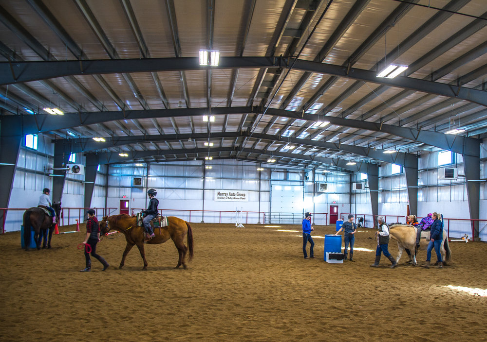 The LTRA arena during riding sessions.