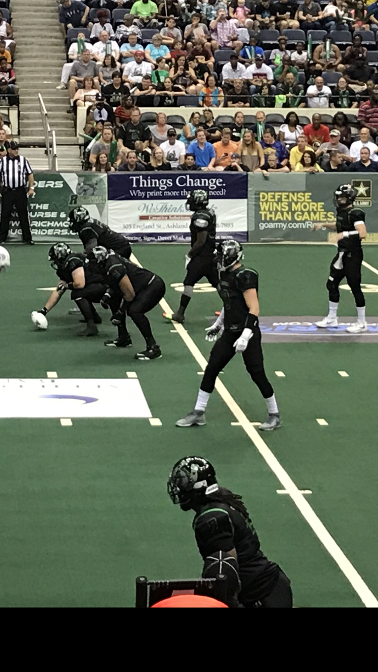Arena pro football (AFL) is fast paced, high scoring, exciting football. It is played indoors, the field is smaller and less players are on the field.  The rules are different than the other pro football leagues like the NFL and CFL.