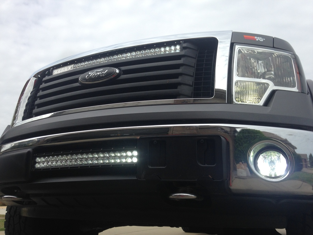 F150 with custom mounted led light bars soundenvision marshfield f150 with custom mounted led light bars soundenvision marshfield mo mozeypictures Gallery