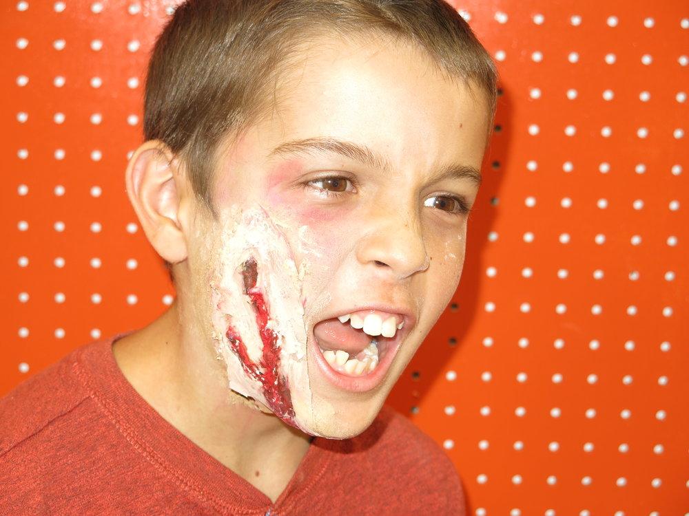 Grisly face prosthetics