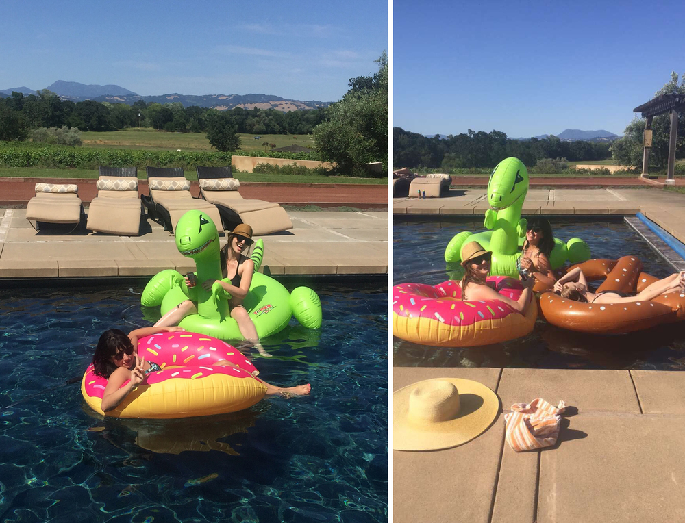 Fun pool floats are MANDATORY for a weekend like this.