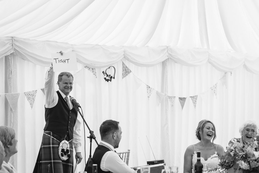 Father of bride speech - Powys Wedding Photography