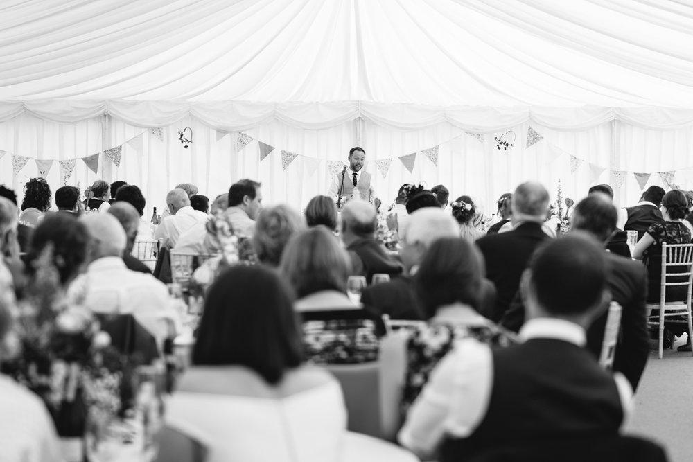 Groom's speech - Powys Wedding Photography