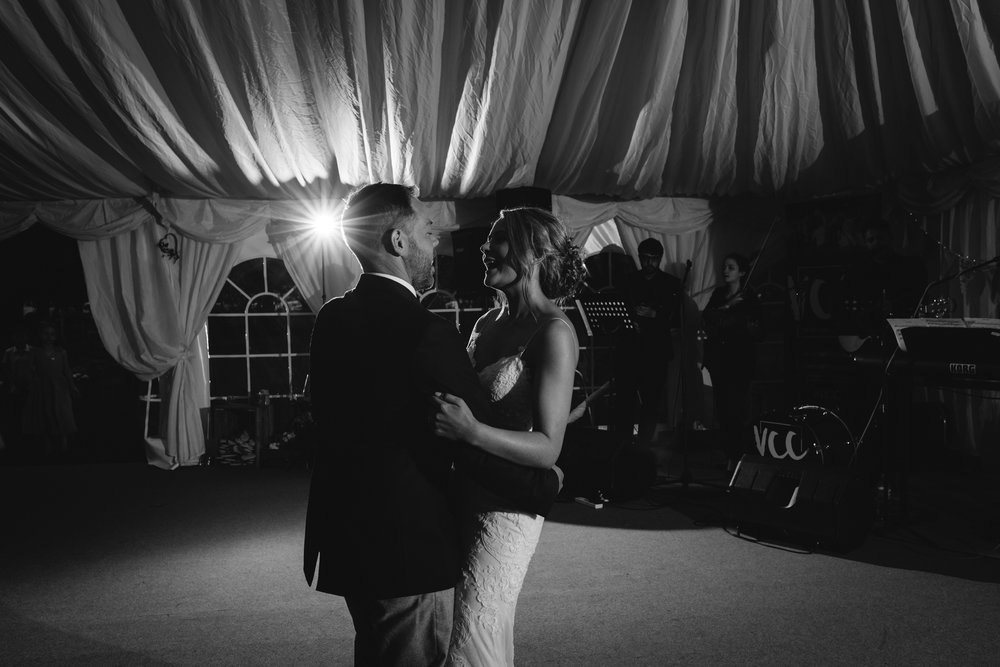 Bride and groom first dance - Powys Wedding Photography