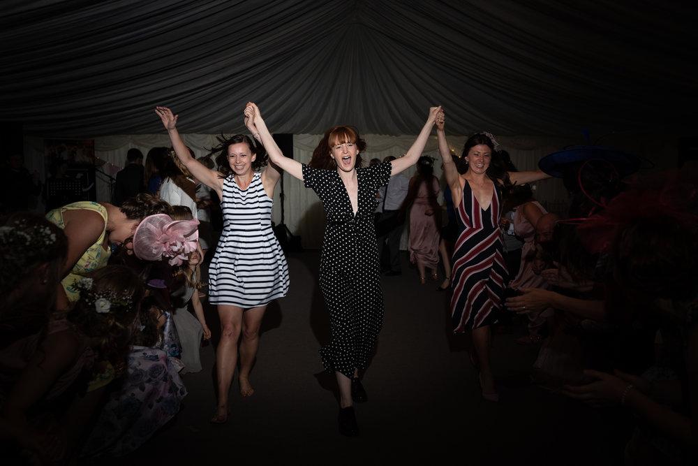 Ceilidh dance - Powys Wedding Photography