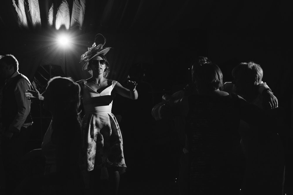 Guests dancing - Powys Wedding Photography