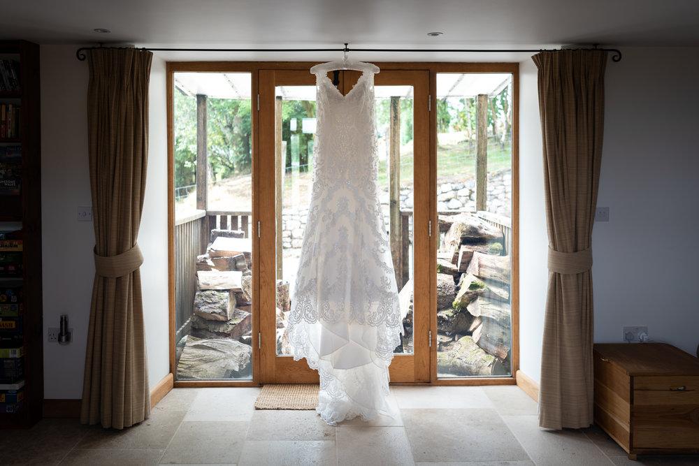 Wedding dress - Powys Wedding Photography