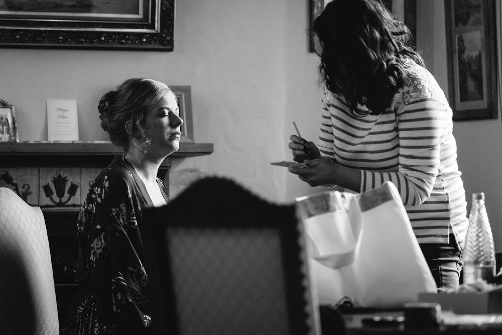 Bride make up - Powys Wedding Photography