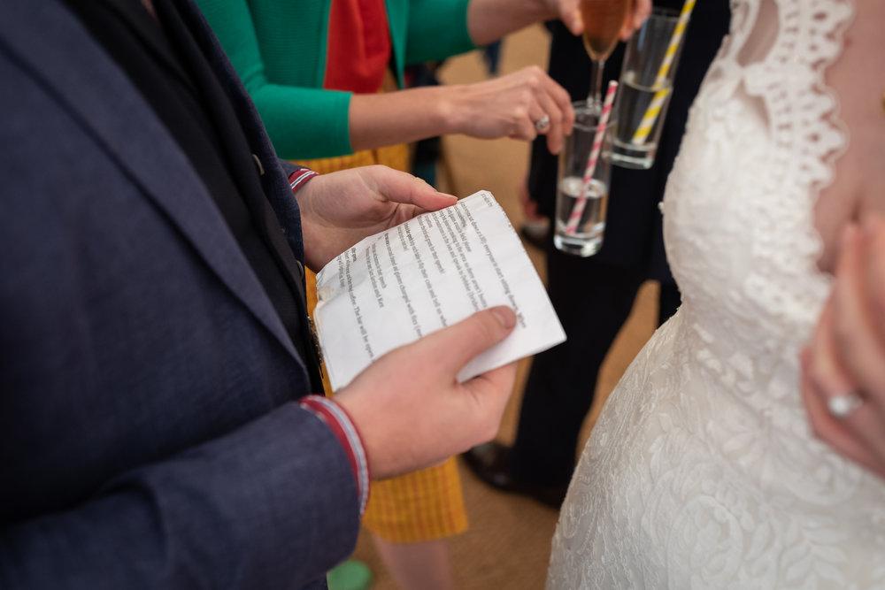 Wedding speech - Powys Wedding Photography
