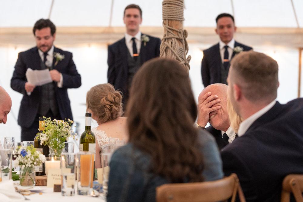 Wedding beat man speech - Powys Wedding Photography