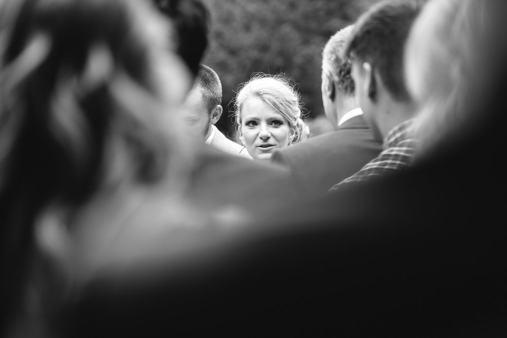 Copy of Bride talking to Guests after Wedding