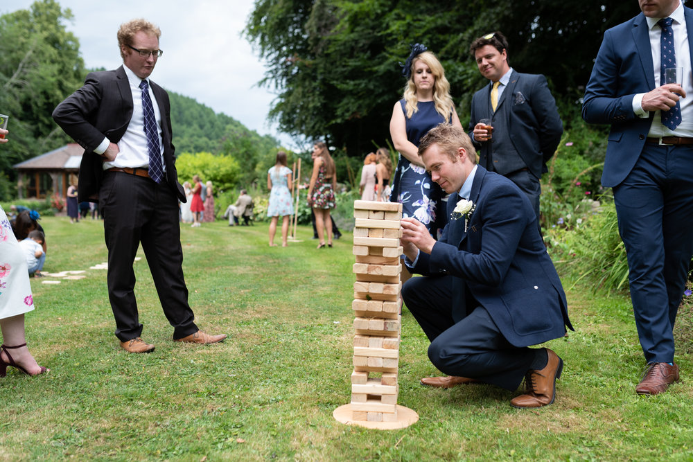 Copy of Guests playing Wedding Games at Reception