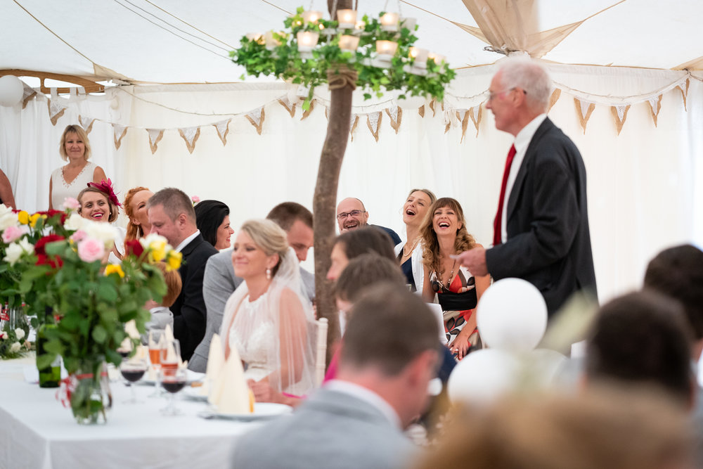 Copy of Guests & Bride during Wedding Speeches