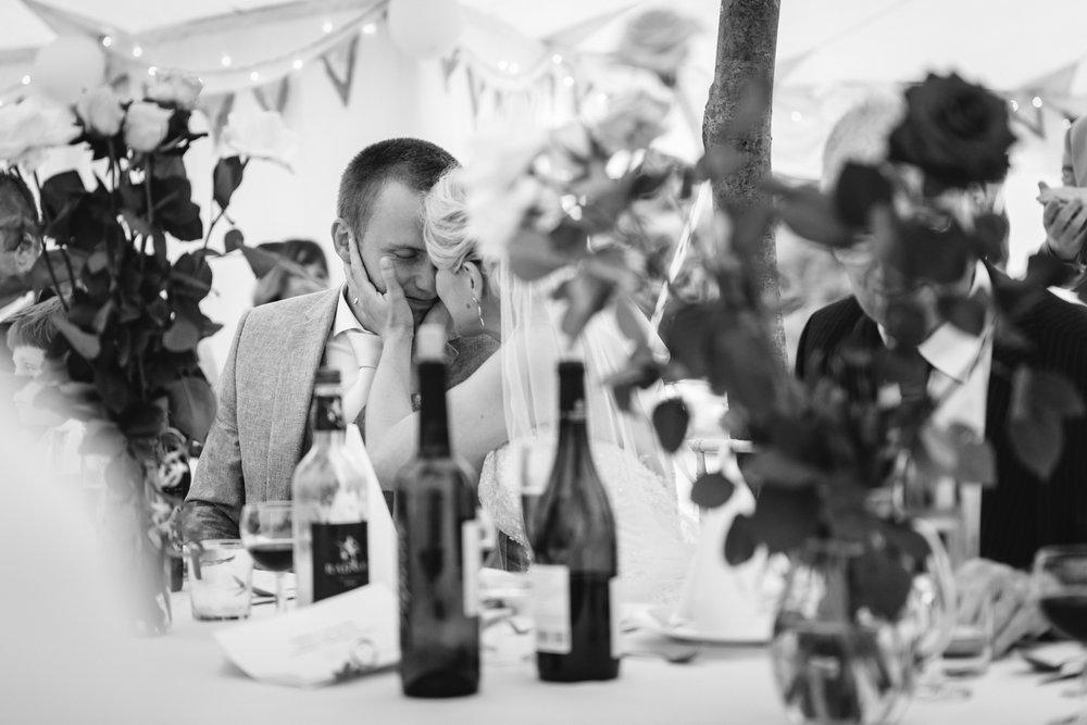 Copy of Bride & Groom during wedding reception