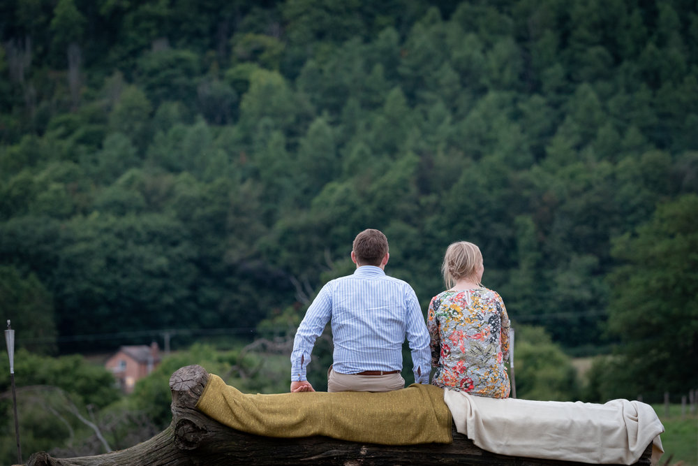 Copy of Couple Admiring the view at Wedding