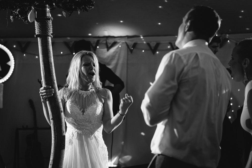 Copy of Bride Singing at Wedding Party