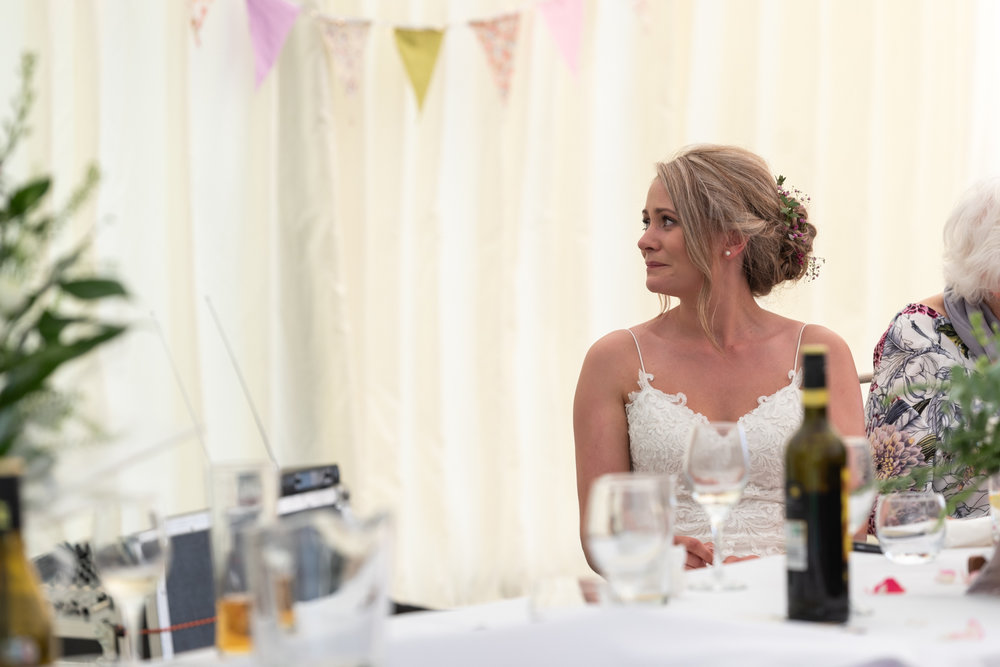 Steven Parry Photography / Bride Crying During Speeches