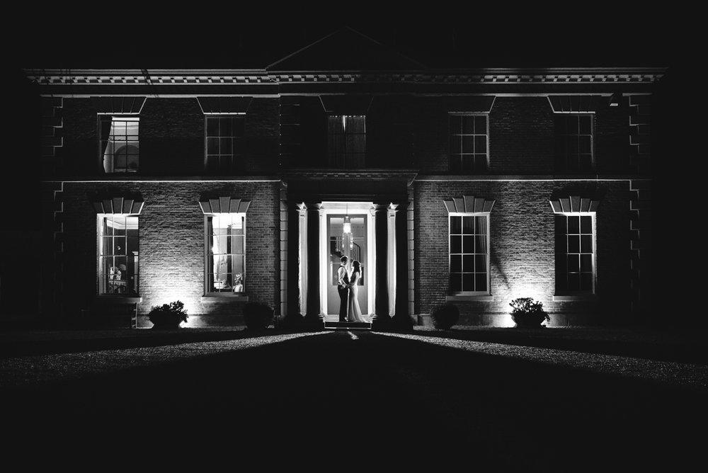 Steven Parry Photography / Bride & Groom Night Photograph / Garthmyl Hall