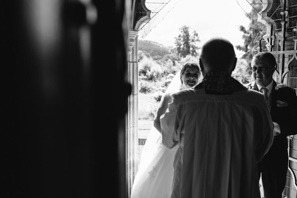Steven Parry Photography / Bride Waiting at Church Before Ceremony