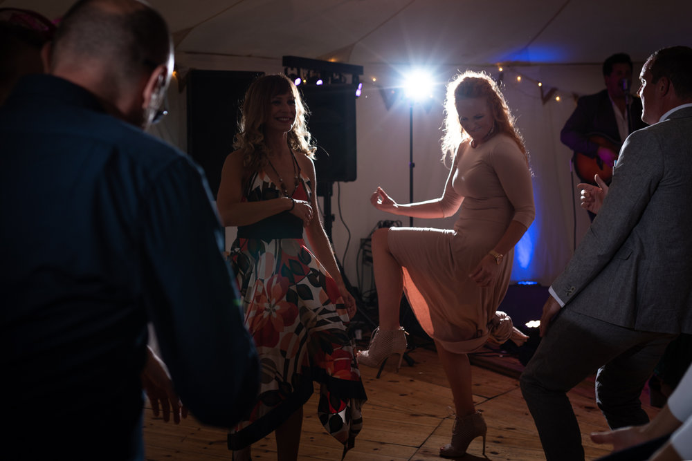 Steven Parry Photography / Wedding Guest Rocking Out at Wedding Party